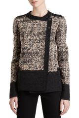 Proenza Schouler Double-breasted Short Tweed Jacket - Lyst