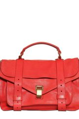 Proenza Schouler Ps1 Medium Lux Leather Satchel - Lyst