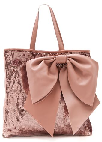 RED Valentino Paillettes Bow Tote - Lyst