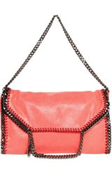 Stella McCartney Three Chain Shaggy Faux Deer Falabella - Lyst