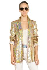 Stella McCartney Sequins On Silk Organza Jacket