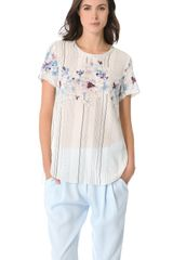 3.1 Phillip Lim Watercolor Floral Top - Lyst