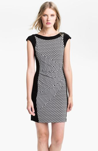 Alex & Ava Print Front Jersey Dress - Lyst