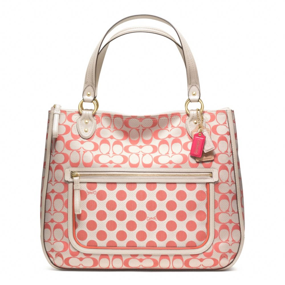 Lyst Coach Poppy Signature C Dot Hallie Tote In Pink