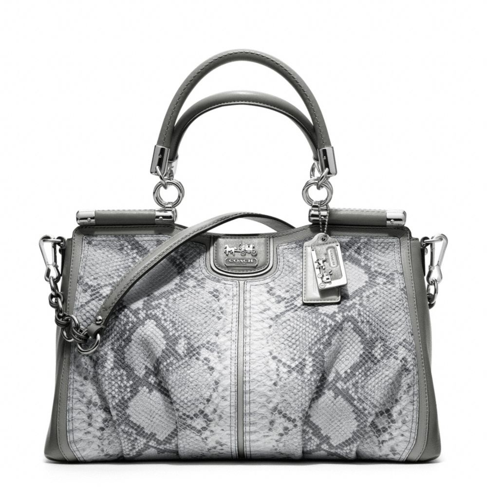 7193e1c7af ... leather hobo shoulder bag 9523d 32833; low cost lyst coach madison  pinnacle embossed python carrie 60913 53628