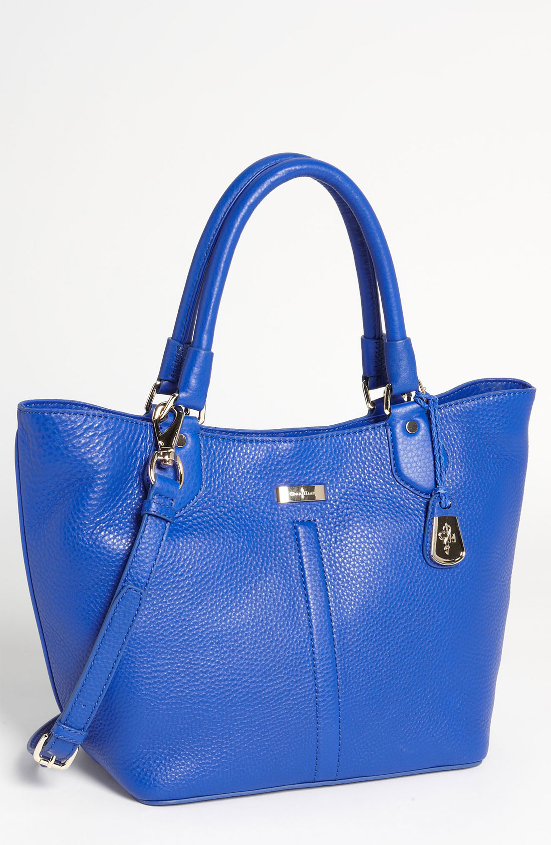 Cole Haan Triangle Small Leather Tote in Blue (cobalt)