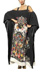 Etro Printed Viscose Cady Long Kaftan Dress