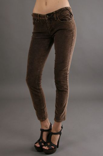 Free People Velvet 5 Pocket Skinny - Lyst