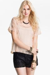 Free People Boxy Lace Top - Lyst