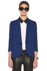 Girl. By Band Of Outsiders Shawl Collar Blazer in Twilight Blue - Lyst