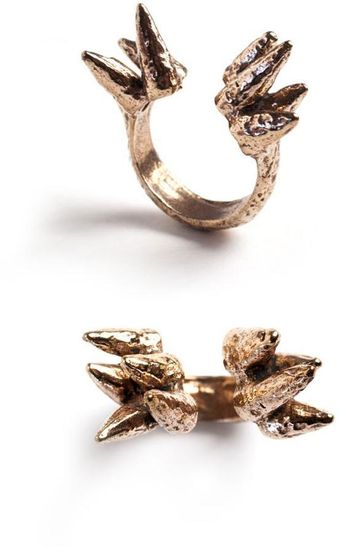 Ines Susaeta Spike Bronze Ring - Lyst