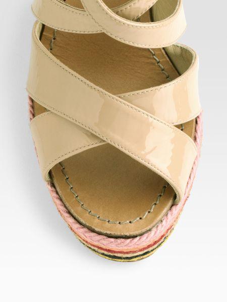 Kate Spade Lindsay Patent Leather Slingback Espadrille