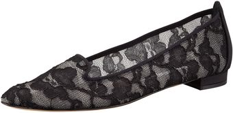 Manolo Blahnik Sharifac Lace Smoking Slipper - Lyst