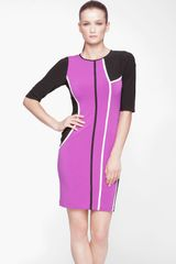 Marc New York By Andrew Marc Colorblock Jersey Sheath Dress - Lyst