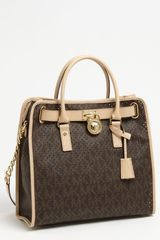 Michael by Michael Kors Signature Hamilton Perforated Satchel - Lyst