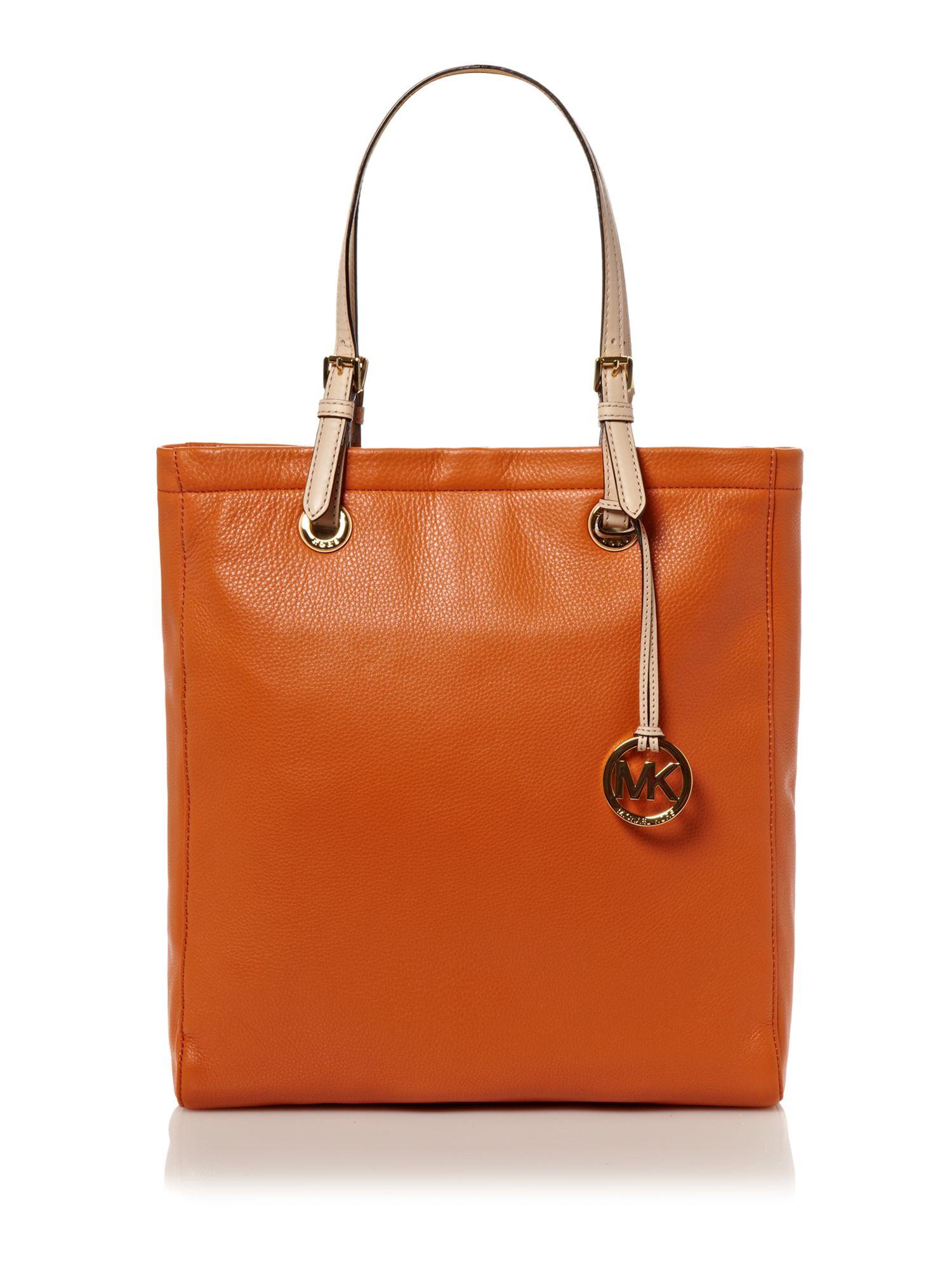 michael kors tote shopper bag in orange lyst. Black Bedroom Furniture Sets. Home Design Ideas