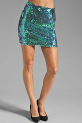 Mink Pink Splash High Waisted Sequin Mini Skirt - Lyst