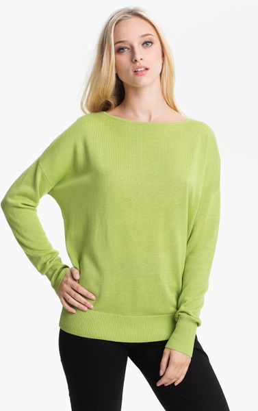 Nordstrom Collection Silk Cashmere Sweater in Green light