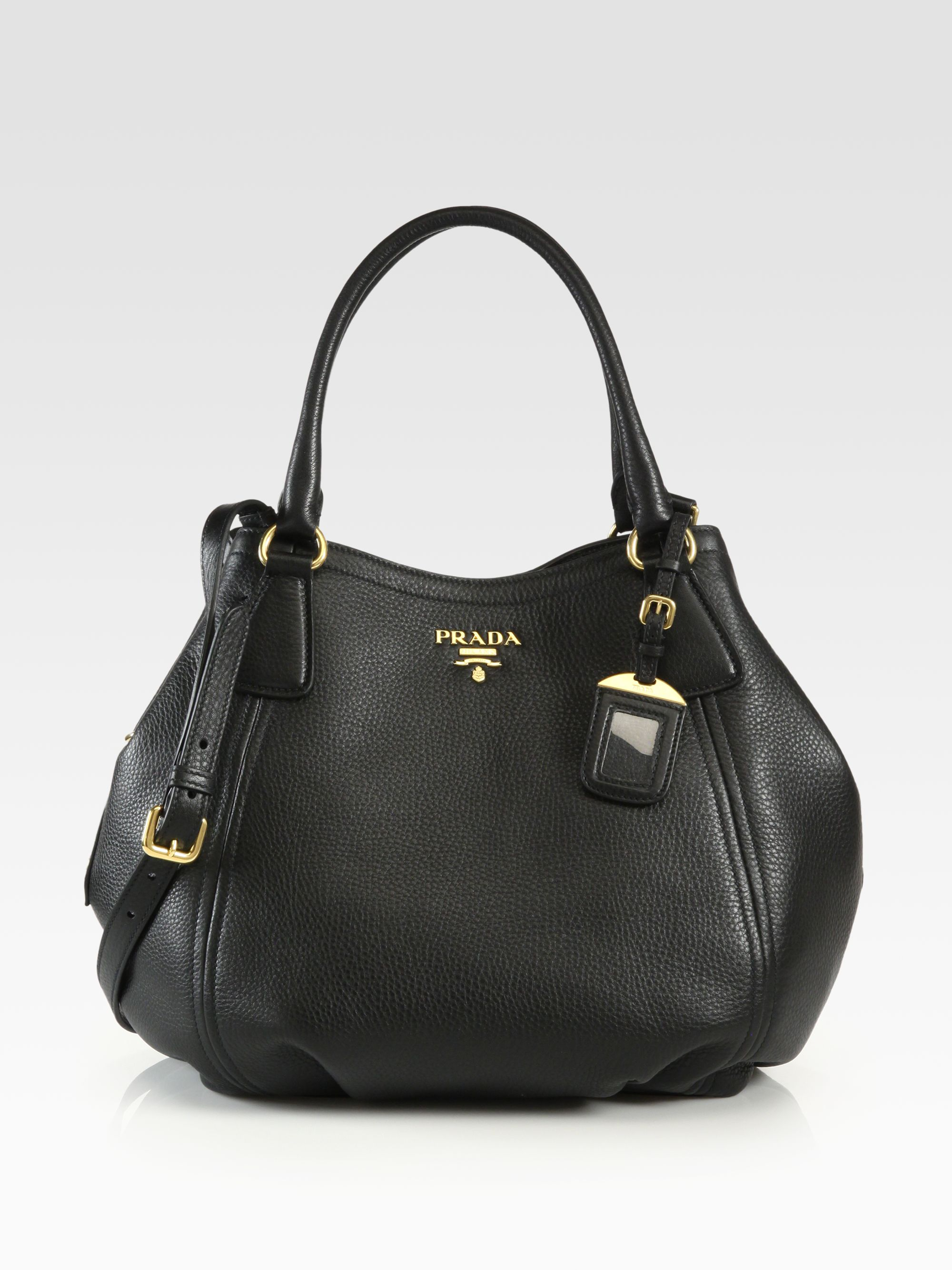 prada handbags for sale - Prada Daino Convertible Satchel in Black | Lyst