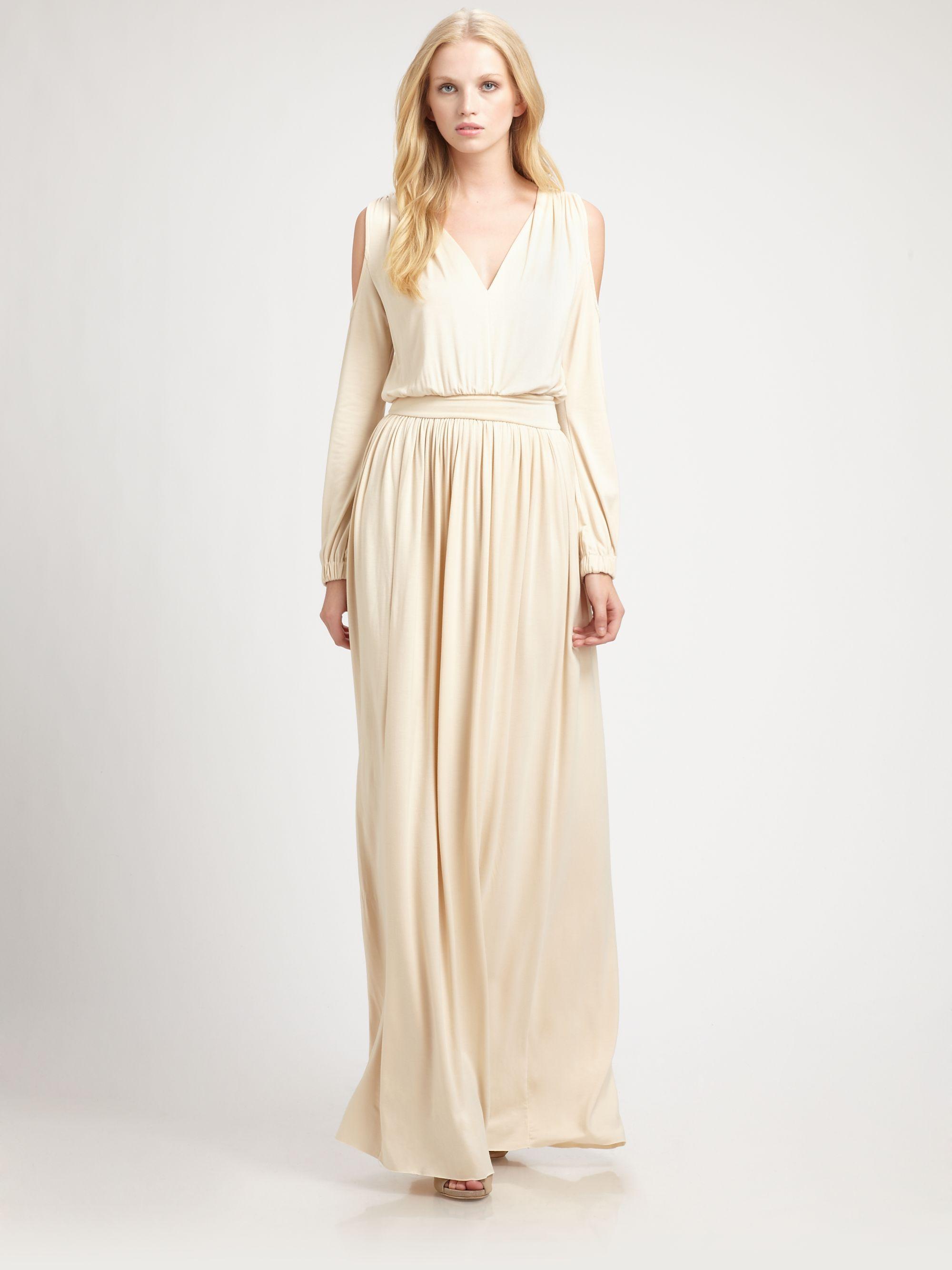 long sleeve maxi dress cream « Bella Forte Glass Studio