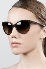 Stella Mccartney Sunglasses Semiround Cateye Sunglasses Brown - Lyst