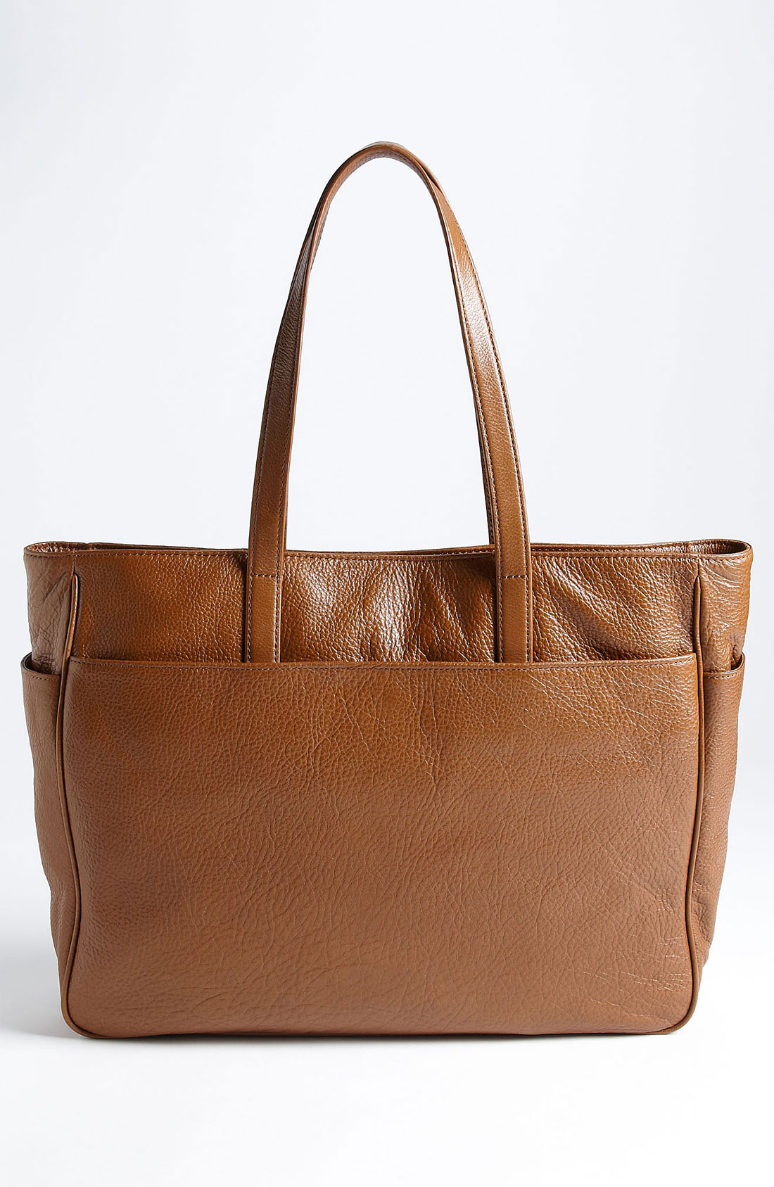 Perforated logo classic leather tote