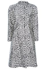 Valentino Leopard Print Dress - Lyst