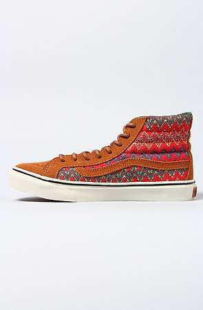4ddcf1168c Lyst - Vans The Sk8 Hi Slim Ca Sneaker in Brown and Red Zig Zag in Brown
