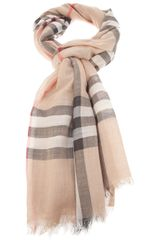 Burberry Checked Print Scarf