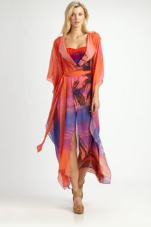 Gottex Swim Silk Calypso Open Front Cover-Up - Lyst