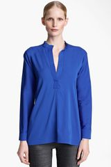 Jil Sander Stretch Silk Tunic - Lyst