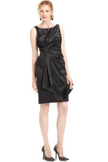 Js Collections Sleeveless Satin Cocktail Dress - Lyst