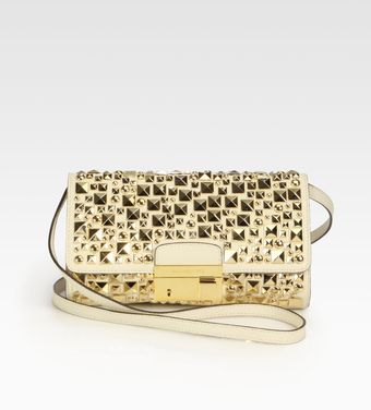 Michael Kors Studded Convertible Clutch - Lyst