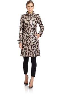 Moschino Cheap & Chic Leopardprint Trench Coat - Lyst