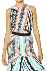Peter Pilotto Printed Silk Cloquet Top - Lyst