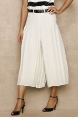 Ralph Lauren Blue Label Pleated Crepe De Chine Culotte - Lyst
