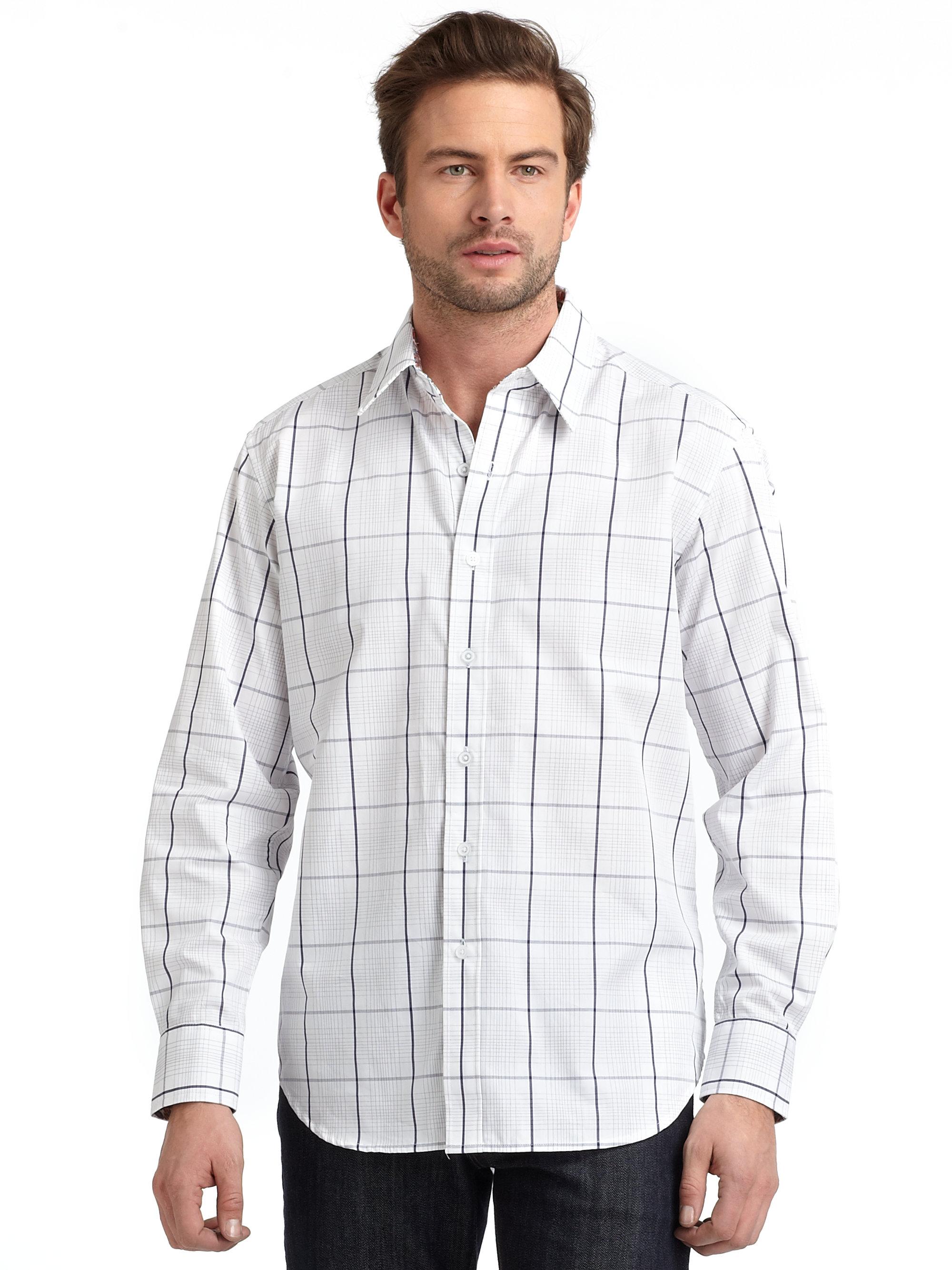 Robert graham Buttondown Shirt in White for Men   Lyst Robert Graham Designer