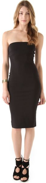 Robert Rodriguez Tube Dress In Black Lyst