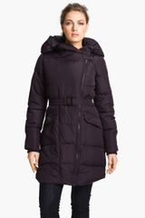 Steve Madden Asymmetrical Quilted Coat in Purple (plum) - Lyst