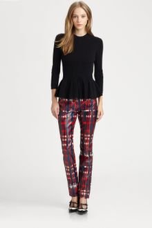 Tory Burch Leather Christina Pants - Lyst