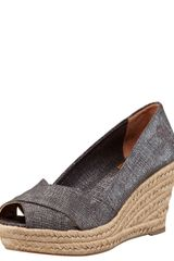 Tory Burch Filipa Wedge Espadrille Pewter - Lyst
