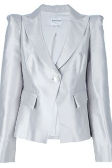 Armani Structured Cropped Blazer - Lyst