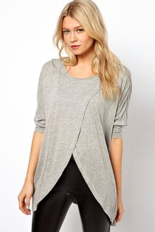ASOS Collection Asos Top with Cross Front - Lyst