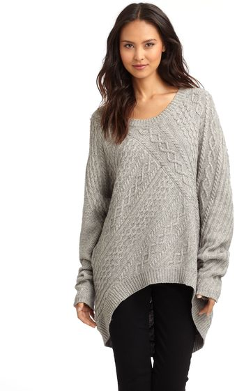 BCBGMAXAZRIA Cable Knit Sweater - Lyst