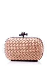 Bottega Veneta Satin Box Clutch Bag - Lyst