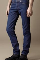 Burberry Shoreditch Coated Colour Skinny Fit Jeans - Lyst