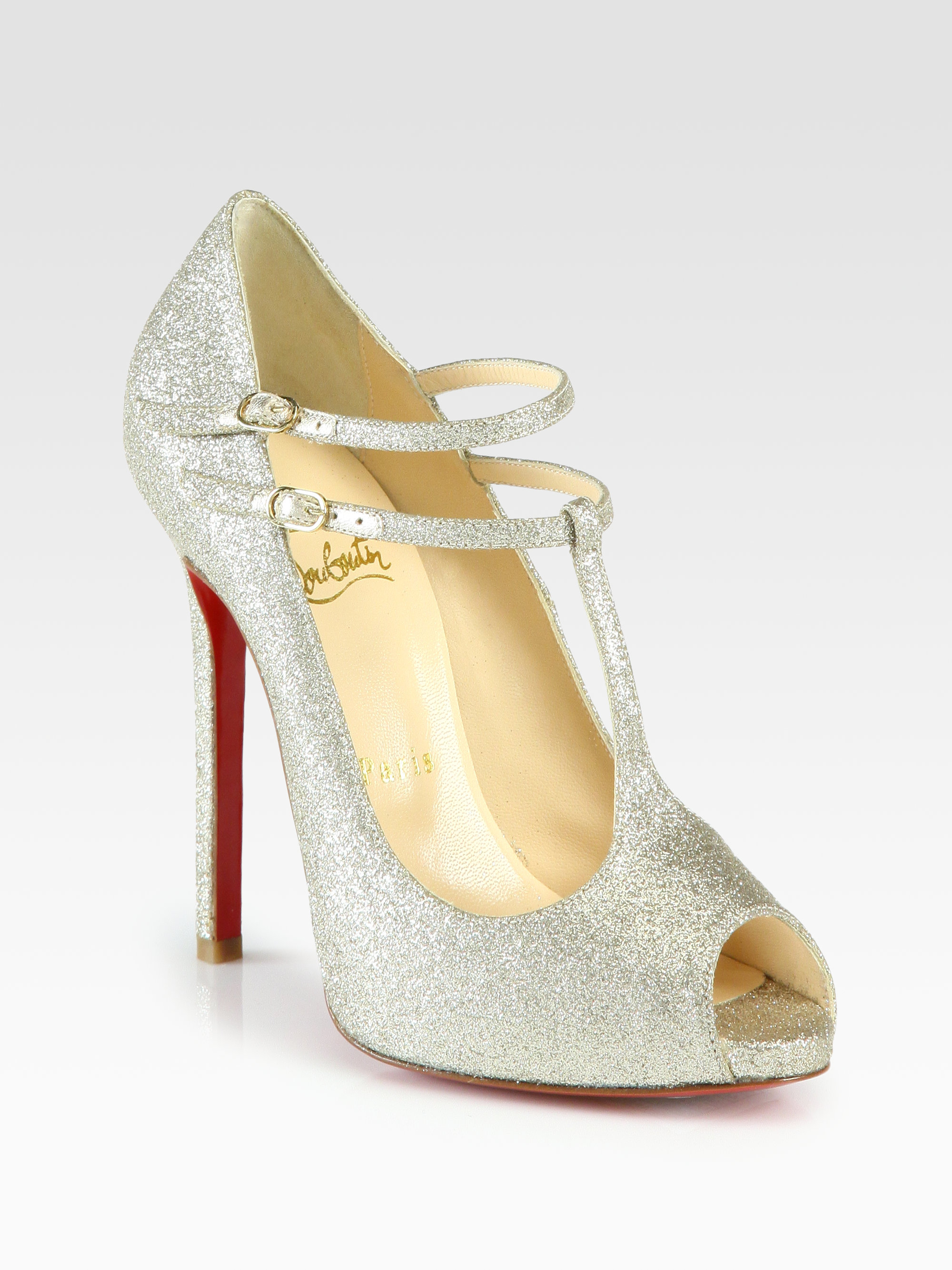 christian louboutin glitter platform pumps - Bbridges