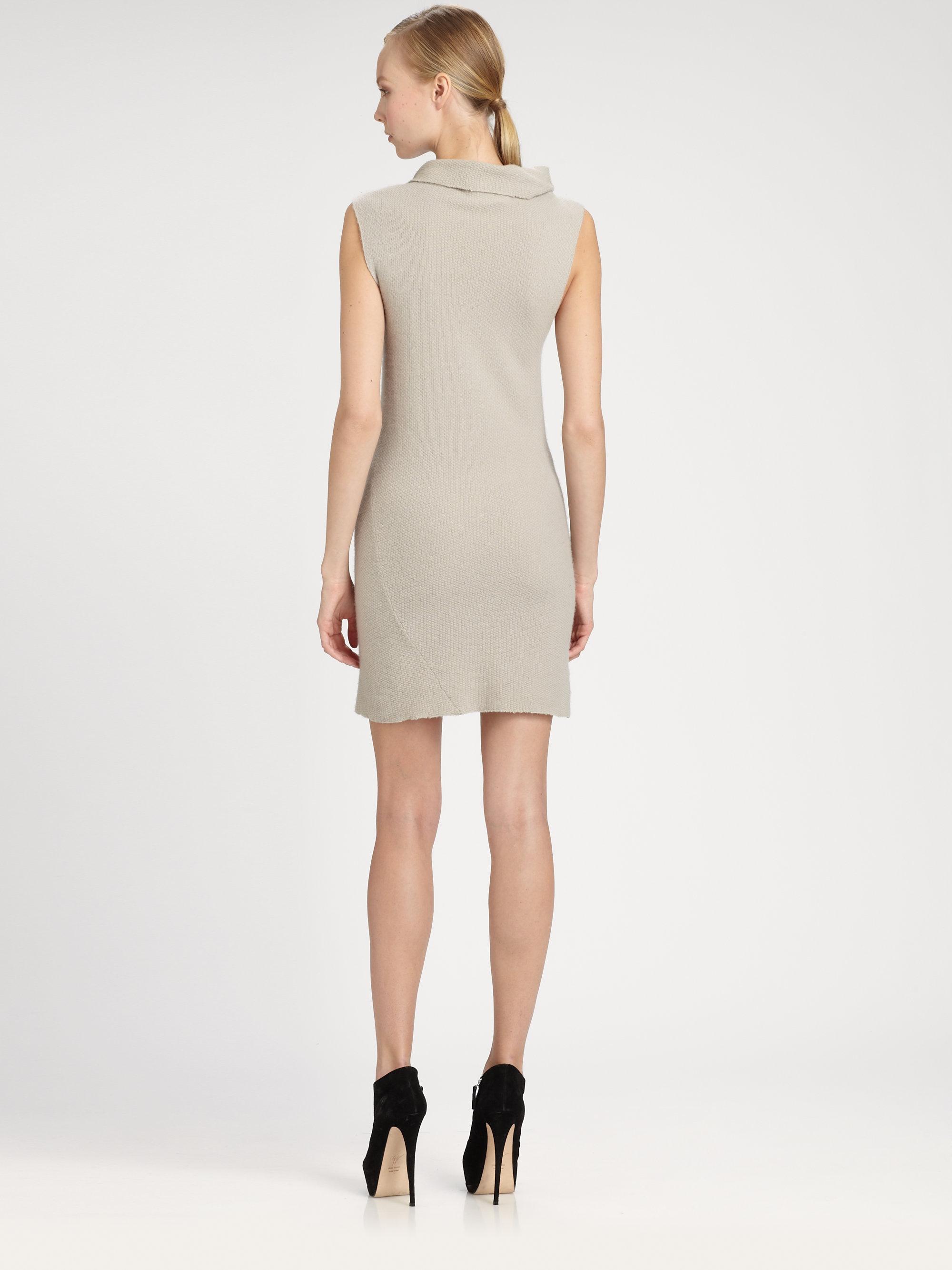 donna karan new york sleeveless cashmere turtleneck dress. Black Bedroom Furniture Sets. Home Design Ideas