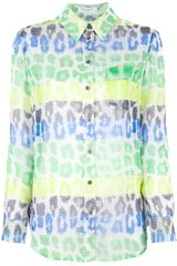 Equipment Printed Silk Blouse - Lyst
