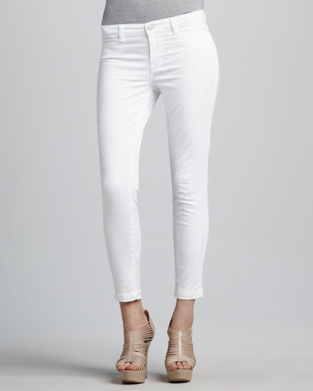 J brand Harper Capri Pants in White   Lyst